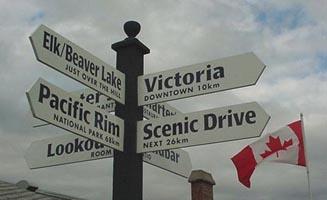 Cordova Bay signpost